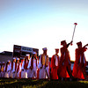 JIM VAIKNORAS/Staff photo Amesbury's graduating class march into Landry Stadium.