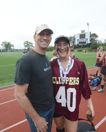 JIM VAIKNORAS/Staff photo Newburyport Isabella Sarra and her dad.