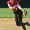 JIM VAIKNORAS/Staff photo Amesbury's Rachael Cyr pitches against St Mary's at Martin Field in Lowell Sunday. The Indians lost the game 8-4.