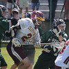 JIM VAIKNORAS/Staff photo Newburyport's Matthew Kelleher charges through the Austin Prep defense during their game at War Memorial Stadium in Newburyport Saturday.