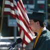 JIM VAIKNORAS/staff photoSalutatorian Michael Aiduk gives his address at Pentucket's Commencement Saturday at the high school in West Newbury.