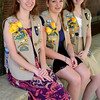 JIM VAIKNORAS/Staff photo  Girl Scout Gold Award winners Jolene Buczala, Amanda Rotberg, and Madeleine Scmuch at Triton high in Byfield.