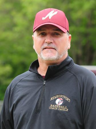 BRYAN EATON/Staff Photo. Newburyport High baseball assistant coach Rob Daigle.