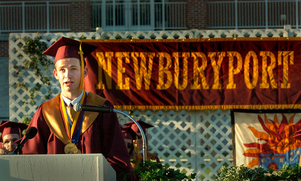 BRYAN EATON/Staff Photo. Newburyport High class of 2016 valedictorian Peter Conway.