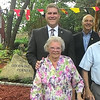 JIM SULLIVAN/Staff photo. Betty and Leslie Goodwin with stand with Rep. Jim Kelcourse and Mayor Ken Gray at the dedication of Goodwin's Corner.