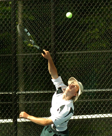 BRYAN EATON/Staff Photo. Lucas Chory in second singles.