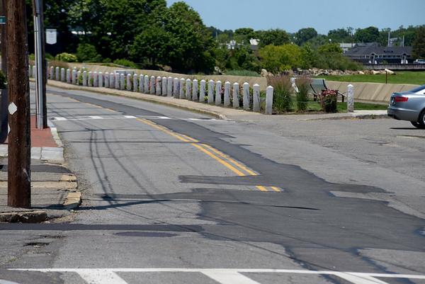 JIM VAIKNORAS/Staff photo 6/24/2016 Sidewalks and roadway on Water Street in Newburyport to be repaired.