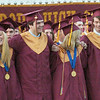 "BRYAN EATON/Staff Photo. Newburyport High graduates sing ""Alma Mater."""