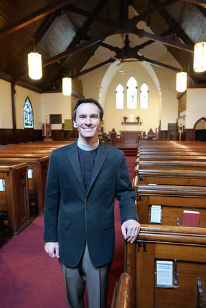 BRYAN EATON/Staff Photo. Father John Satula has been awarded a $10,000 grant at the St. James Episcopal Church in Amesbury.