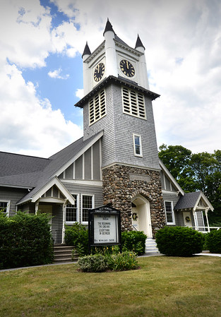 BRYAN EATON/Staff Photo. West Newbury Congregational Church.