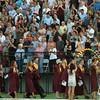 BRYAN EATON/Staff Photo. The Newburyport High class of 2016 exits World War Memorial Stadium on Monday night.