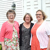 JIM VAIKNORAS/Staff photo Retireing Rowley educators Aleta Budd, Heather Ferriera  and  Marion Jones at a party in their honor at the Rowley VFW.