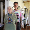 BRYAN EATON/Staff photo. Audrey Bechler with her son Douglas at the Newburyport Art Association.