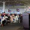 BRYAN EATON/Staff Photo. Massachusetts Governor Charlie Baker addresses the Greater Newburyport Chamber of Commerce members at the Blue Ocean Event Center. Governor Baker was the keynote speaker of the Chamber's 50th Anniversary Dinner last night.