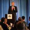 BRYAN EATON/Staff Photo. Massachusetts Governor Charlie Baker addresses the Greater Newburyport Chamber of Commerce members at the Blue Ocean Event Center. Governor Baker was the keynote speaker of the Chamber's 50th Anniversary Dinner last night.
