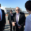 BRYAN EATON/Staff Photo. Massachusetts Senate President Stanley Rosenberg met Salisbury and state officials along with business leaders on a tour of the beach front. He was later speaking at the Salisbury Chamber of Commerce Dinner at Blue Ocean Event Center.