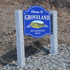Groveland. welcome to Groveland sign on Rt 97. Jim Vaiknoras/staff photo