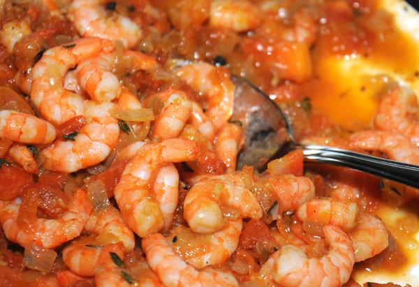 newburyport: Shiela Mullins Papaya Garlic Shrimp. Jim Vaiknoras/staff photo