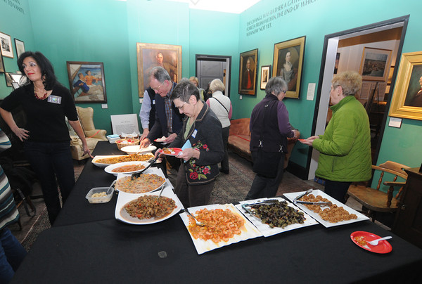 newburyport: Shiela Mullins at the Custom House First Friday Social. Jim Vaiknoras/staff photo