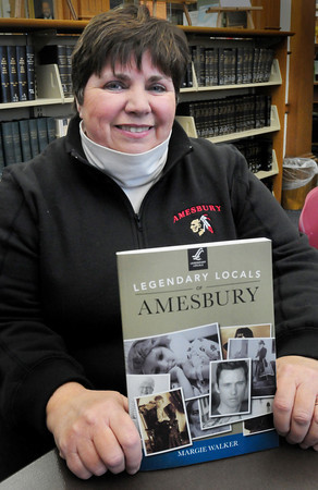 "Amesbury: Margie Walker has put together the book ""Legendary Locals of Amesbury."" Bryan Eaton/Staff Photo"
