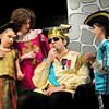 "Amesbury: In a scene from ""Cinderella"" from left, Hannah Balaam as the Crier; Carolyn Sullivan as the Herald; Cody Care as the King and Gabby Bjornholm. Bryan Eaton/Staff Photo"