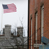 Newburyport: The American flag atop the Custom House Maritime Museum was horizontal most of the day as strong winds persisted. Locally the wind wasn't as bad as Cape Cod and Nantucket which got gusts of 70 miles per hour. Bryan Eaton/Staff Photo