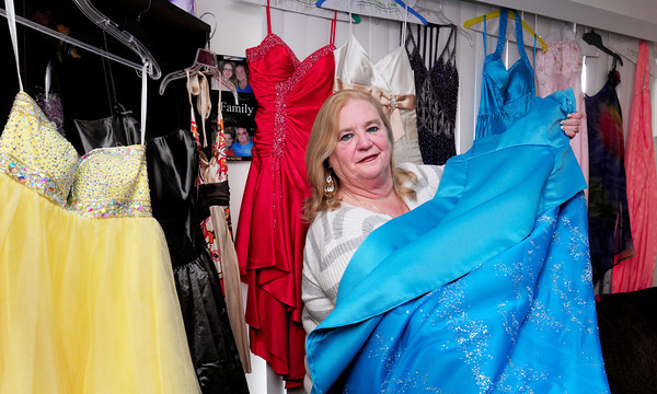 """Amesbury: Betty Vitale has started a non-profit organization called """"Tammi's Closet"""" in memory of her daughter who passed away at a young age. Her goal is to collect and give away prom dresses and accessories to girls in need. Bryan Eaton/Staff Photo"""