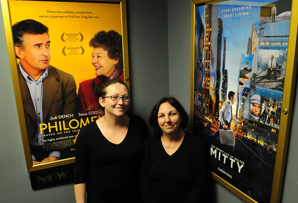 Amesbury: Shannon Turbity, left, and her mother, Donna, are raising money to outfit their Stage Two Cinema Pub with a digital projector. Bryan Eaton/Staff Photo