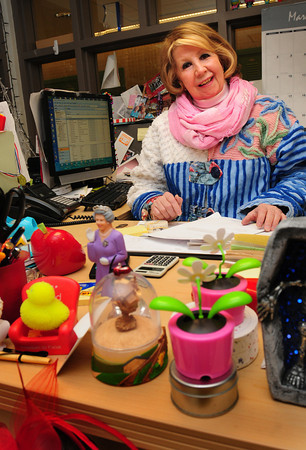 Amesbury: Carol Bartlett works in the Amesbury Schools' administrative department. Bryan Eaton/Staff Photo