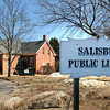 Salisbury: The Salisbury Public Library will be closing April 1 and later will reopen in its temporary site on Elm Street. Bryan Eaton/Staff Photo