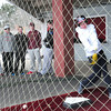 Newburyport: Newburyport baseball player Evan Trego swings in the batting cage as spring sports gets underway. Bryan Eaton/Staff Photo