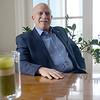 JIM VAIKNORAS/Staff photo Dick Bazirgan at his Byfield home.
