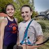 BRYAN EATON/Staff Photo. Newburyport High tennis captains Jackie Archie, left, and Lauran Della-Croce.
