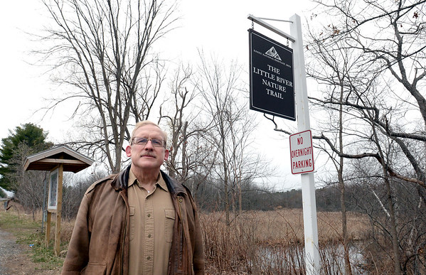 BRYAN EATON/Staff Photo. Jerry Mullins is hoping to get funding to expand the Little River Nature Trail here on Hale Street in Newburyport.