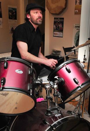 Newburyport: Drummer Charlie Farr. Bryan Eaton/Staff Photo