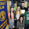 Amesbury: Members of the Interact Club, flanking advisor Bethany Noseworthy, sitting, from left, Jesse Reyes, 17; Rotary advisor Jack Christian; Tamara Berman, 16, Jacob Berman, president; Michael Reslewic, secretary; and Paul Klein. Bryan Eaton/Staff Photo