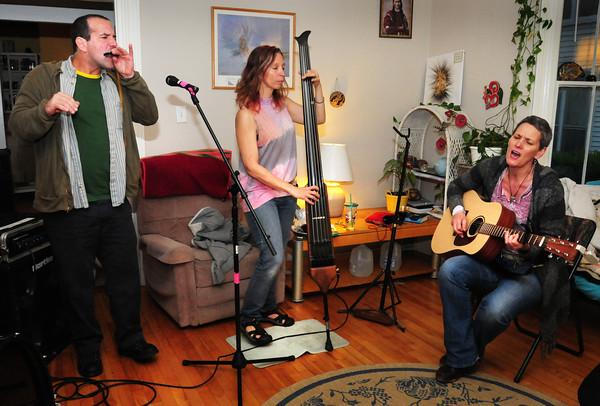 Newburyport: From left, Jason Novak, Lynne Taylor and Liz Frame. Bryan Eaton/Staff Photo