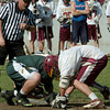 Newburyport: North Reading and Newburyport scramble for the ball after the referee drops the ball. Bryan Eaton/Staff Photo