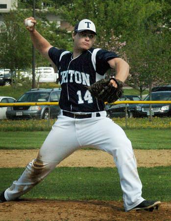 Amesbury: Triton pitcher Nick Cornoni throws against Amesbury. Bryan Eaton/Staff Photo