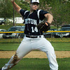 Amesbury: Triton pitcher Nick Cornoni throws against Amesbury. Bryan Eaton/Staff Photo