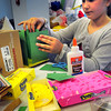 "Newburyport: The Children's Room at the Newburyport Public Library held an activity ""Give Peeps a Chance: Peep Diorama Building for Teens on Monday. Stella Badalament, 10, built the Emerald City from the Wizard of Oz, one of her favorite movies. Bryan Eaton/Staff Photo"