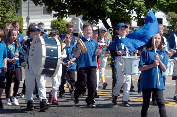 Salisbury: The Salisbury Elementary School band marches in the Memorial Day Parade on Monday along Lafayette Road. The paraded ended at the town common for services. Bryan Eaton/Staff Photo