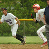 Amesbury: Amesbury's Andy Reidy heads safely to third base on a hit by Adam Ivancic. Bryan Eaton/Staff Photo