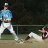 Newburyport: Triton second baseman has the ball forcing Newburyport's Ian Michaels out. Bryan Eaton/Staff Photo