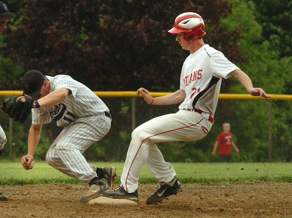 Amesbury: The Shawsheen shortstop struggles with the ball but forced Amesbury's 21 out at second on a hit by 28. Bryan Eaton/Staff Photo