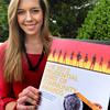 Newburyport: Newburyport High School senior Lauren Sundstrom has been honored nationally for her Clothes For Hope drive. Bryan Eaton/Staff Photo