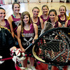 Newburyport: Newburyport High girls lacrosse defense, from left, Carly Kouvaris; Meri Adsit; Mary Pettigrew; Becca Blaustein; Ali Peffer; Olivia Kearney; Shannon Tinkham; Kelly Conway and Jillian Ouellette. Bryan Eaton/Staff Photo