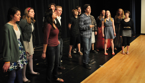 Amesbury: Amesbury High students rehearse yesterday and they are among the finalists inan  a cappella competition on Sunday. Bryan Eaton/Staff Photo