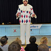"Newburyport: The Theatre in the Open performed an interactive show, ""Mother Goose: A Nonsense Nursery Panto"" for the preschool children at the Brown School on Monday. It is part of this month's ""Fun with Fairy Tales and Nursery Rhymes"" unit which was funded by the Newburyport Education and Business Coalition. Bryan Eaton/Staff Photo"
