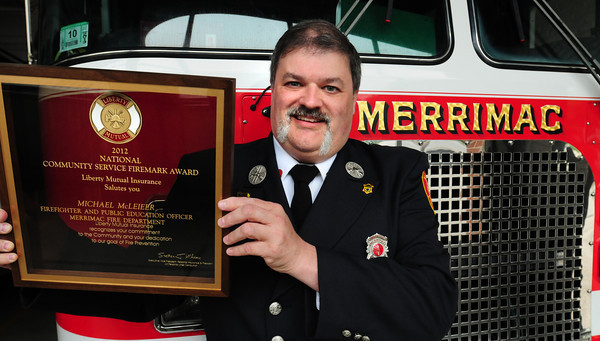 Merrimac: Merrimac fireighter Michael McLeieer founded the non-profit organization E.S.C.A.P.E. (Education Showing Children and Adults Procedures for Evacuations) two decades ago, and it's one of the reasons he recently received a statewide award. Bryan Eaton/Staff Photo
